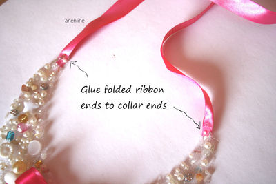 How to make a beaded collar. Beaded Collar Necklace - Step 19