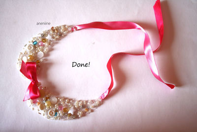 How to make a beaded collar. Beaded Collar Necklace - Step 20