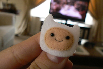 How to sew a fabric character charm. Adventure Time Keyrings - Step 6