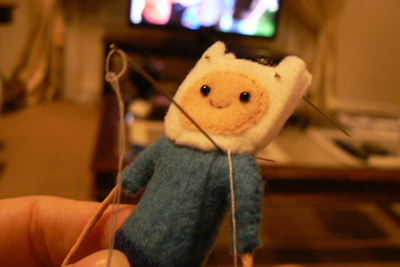 How to sew a fabric character charm. Adventure Time Keyrings - Step 13