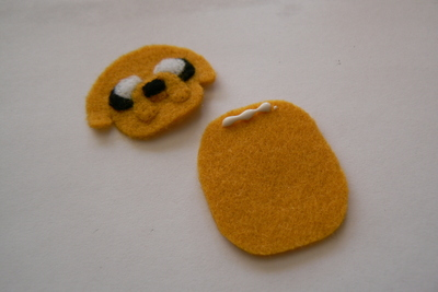 How to sew a fabric character charm. Adventure Time Keyrings - Step 28