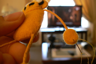 How to sew a fabric character charm. Adventure Time Keyrings - Step 36