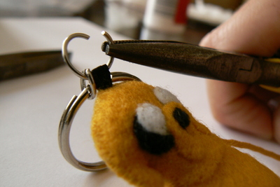 How to sew a fabric character charm. Adventure Time Keyrings - Step 37