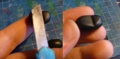 How to mold a clay character. Santa's Butt - Step 7