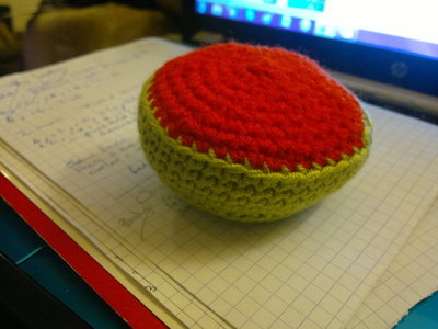 How to make a reptile plushie. Om Nom Crochet Pattern - Step 2