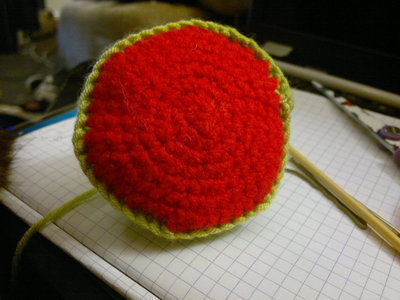 How to make a reptile plushie. Om Nom Crochet Pattern - Step 7