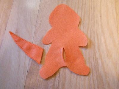 How to make a Pokemon plushie. Charmander Plushie - Step 5