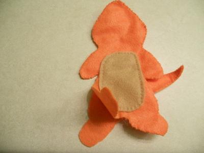 How to make a Pokemon plushie. Charmander Plushie - Step 11