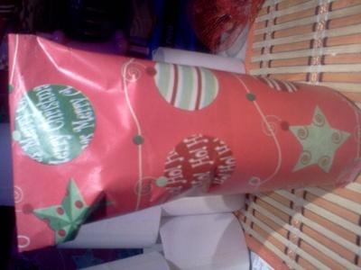 How to make a gift bag. Christmas Grab Bags - Step 7