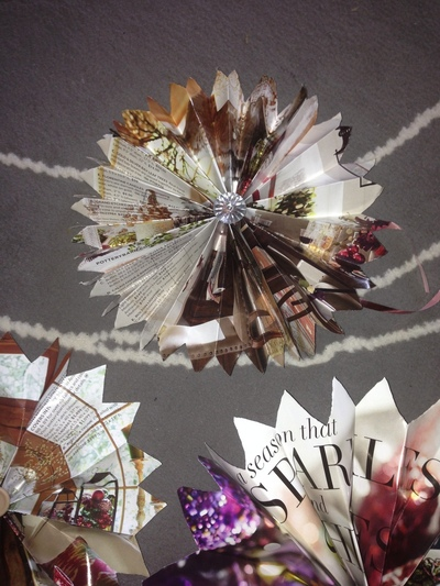 How to create art / a model. Restoration Hardware Or Other Catalogs ~ Stars ~ Holiday Decorations Or Use As Bows - Step 1