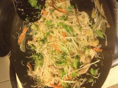 How to cook a stir fry. Low Fat Pork Noodle Stir Fry - Step 5