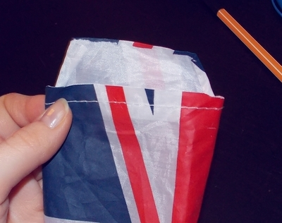 How to make a recycled pouch. Umbrella Cover To Pencil Case - Step 3