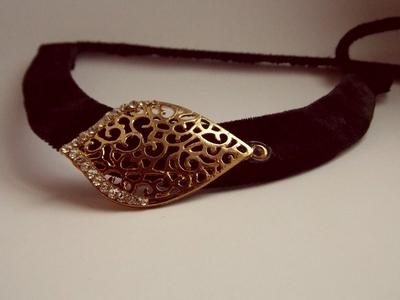 How to make a necklace. Golden Leaf Necklace - Step 3