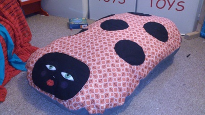 How to sew an applique cushion. Giant Squishy Spotty Ladyslug Pillow - Step 10