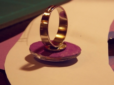 How to make a cabochon ring. Galaxy Ring - Step 5