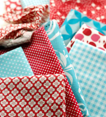 How to sew a fabric coaster. Fair And Square Patchwork Coasters - Step 1