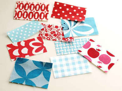How to sew a fabric coaster. Fair And Square Patchwork Coasters - Step 2