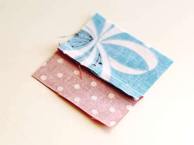 How to sew a fabric coaster. Fair And Square Patchwork Coasters - Step 5