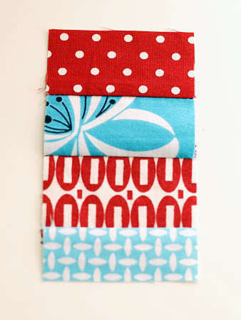 How to sew a fabric coaster. Fair And Square Patchwork Coasters - Step 6