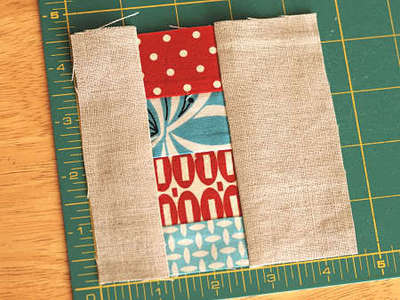 How to sew a fabric coaster. Fair And Square Patchwork Coasters - Step 9