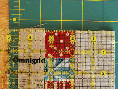 How to sew a fabric coaster. Fair And Square Patchwork Coasters - Step 10