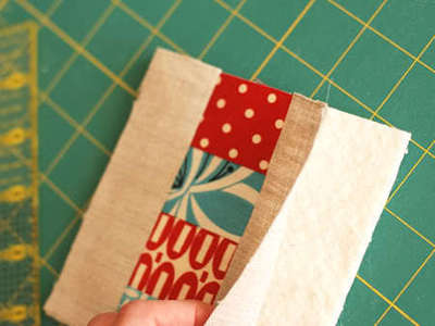 How to sew a fabric coaster. Fair And Square Patchwork Coasters - Step 11