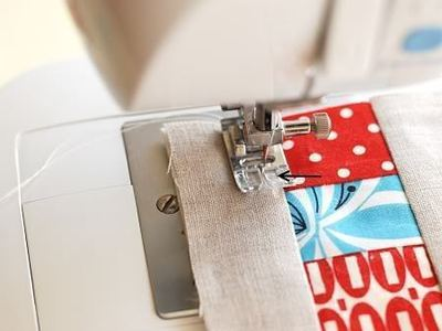How to sew a fabric coaster. Fair And Square Patchwork Coasters - Step 12
