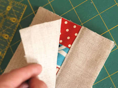 How to sew a fabric coaster. Fair And Square Patchwork Coasters - Step 13