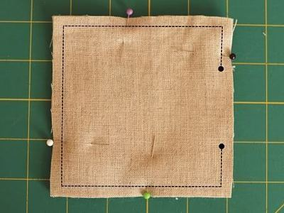 How to sew a fabric coaster. Fair And Square Patchwork Coasters - Step 14