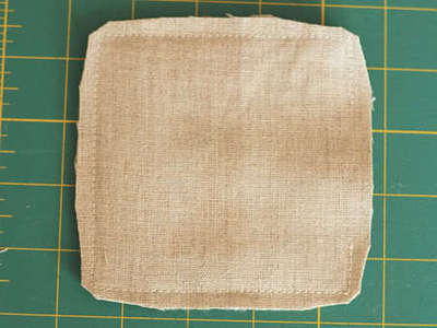 How to sew a fabric coaster. Fair And Square Patchwork Coasters - Step 16
