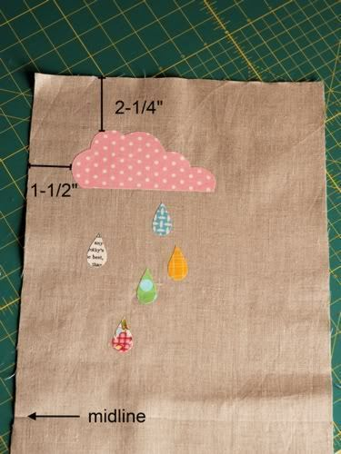 How to sew an applique tote. Cloudy Day Applique Tote - Step 7