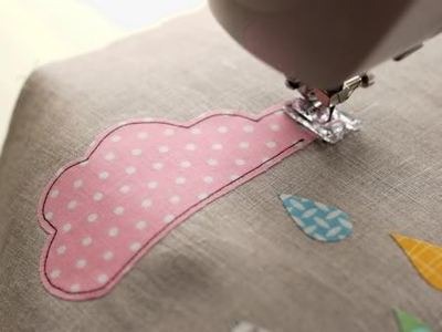 How to sew an applique tote. Cloudy Day Applique Tote - Step 8