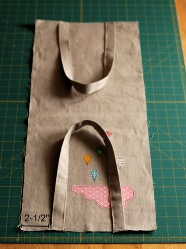 How to sew an applique tote. Cloudy Day Applique Tote - Step 9