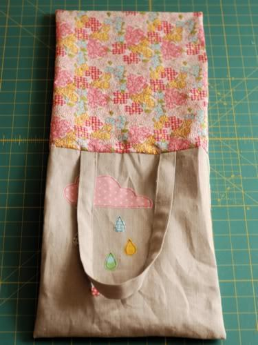 How to sew an applique tote. Cloudy Day Applique Tote - Step 16