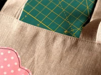 How to sew an applique tote. Cloudy Day Applique Tote - Step 18