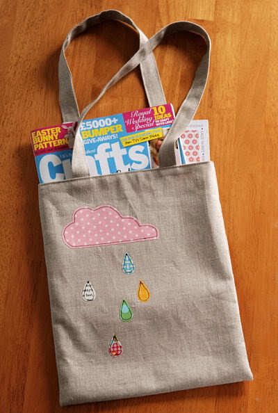 How to sew an applique tote. Cloudy Day Applique Tote - Step 19