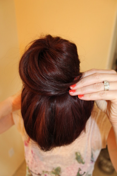 How to style a hair bun. Ballerina Bun - Step 3
