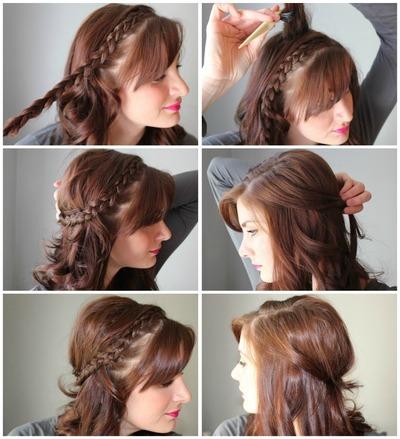 How to style a Dutch braid. Half Up Side Dutch Braid - Step 1