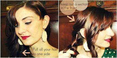 How to style a braided bun. Lauren Conrad Braided Bun - Step 1