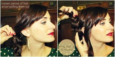 How to style a braided bun. Lauren Conrad Braided Bun - Step 2