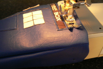How to make a tablet sleeve. Tardis Kindle Cover - Step 11