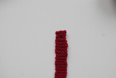 How to stitch a knit or crochet bracelet. Knitted Bracelet - Step 6