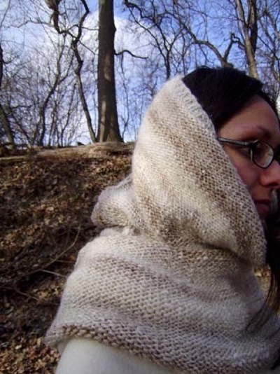 How to make a cowl. Midwinter Wanderer - Step 3