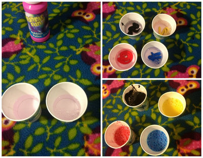 How to paint a piece of splattered paint art. Bubble Painting - Step 2