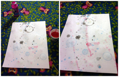 How to paint a piece of splattered paint art. Bubble Painting - Step 5