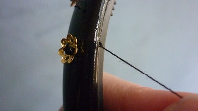 How to make an embellished headband. Baroque Headband (D&G Inspired) - Step 5