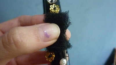 How to make an embellished headband. Baroque Headband (D&G Inspired) - Step 9