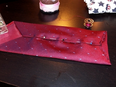 How to recycle a neck tie pouch. Phone Case From A Tie - Step 9