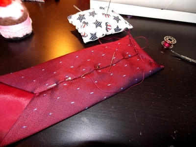 How to recycle a neck tie pouch. Phone Case From A Tie - Step 10