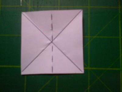 How to fold an origami shape. Original Tea Bag Folded Star - Step 2